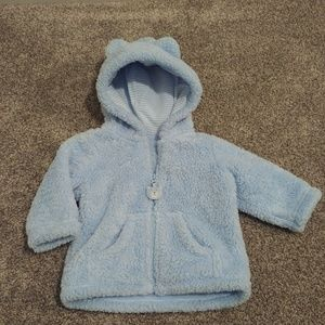 Baby Fuzzy Zip Up Sweater/Jacket